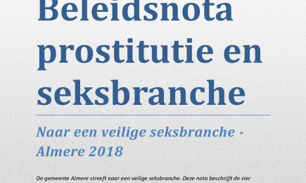 Beleidsnota prostitutie en seksbranche Almere